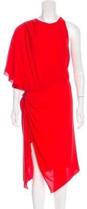 Alexander Wang One-Shoulder Silk Dress w/ Tags