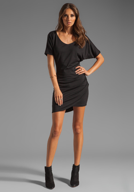 Susana Monaco Light Supplex Overlap Dress