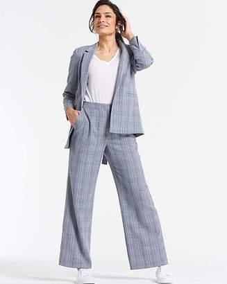 Fashion World Check Wide Leg Trousers