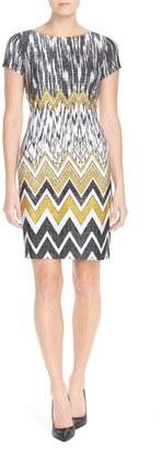 Ellen Tracy Chevron Print Jersey Sheath Dress $118 thestylecure.com