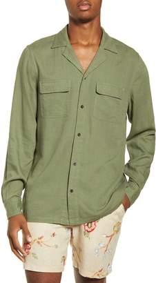 Banks Journal Unplug Slim Fit Cotton & Linen Button-Up Shirt