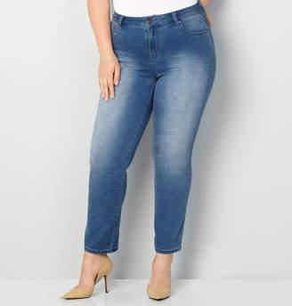 Avenue Butter Denim Straight Leg Jean in Med Wash