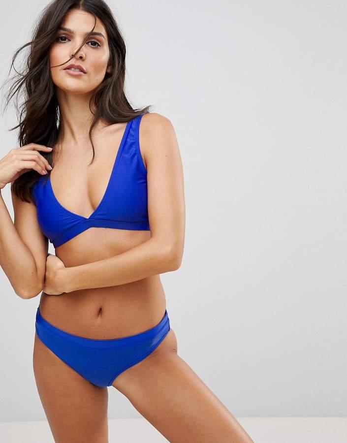Plunge Neck Bikini Set