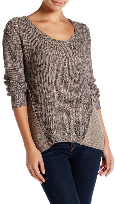 RESEARCH & DESIGN Scoop Neck Twisted Yarn Sweater