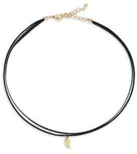 Jules Smith Tiny Leaf Choker $50 thestylecure.com