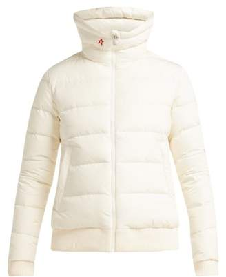 Perfect Moment - Super Star Quilted Down Ski Jacket - Womens - White