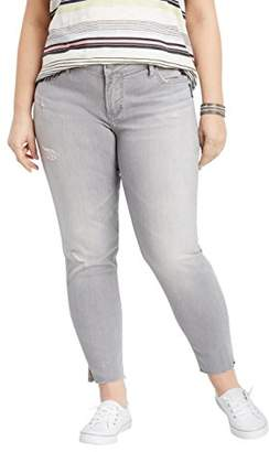 Silver Jeans Co. Women's Plus Size Aiko Mid Rise Ankle Skinny