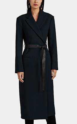 Narciso Rodriguez Women's Virgin Wool Belted Coat - Blue
