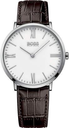 HUGO BOSS Jackson brown leather watch