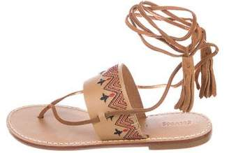 Soludos Leather Embroidered Sandals w/ Tags