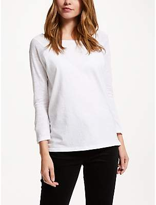 Collection WEEKEND by John Lewis Raglan Sleeve Slub T-Shirt, White