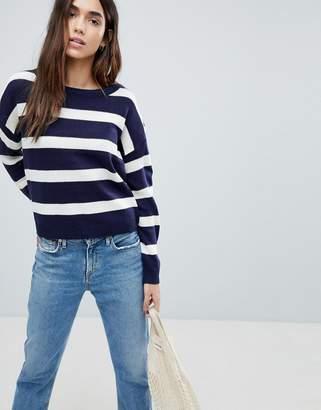 Brave Soul Bioata Wide Stripe Sweater