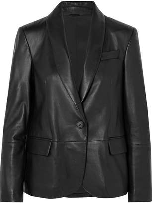 Brunello Cucinelli Leather Blazer - Black