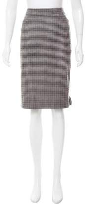 Peserico Gingham Wool Skirt w/ Tags
