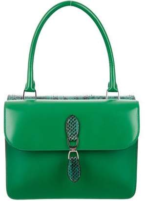 Rochas Snakeskin & Leather Satchel