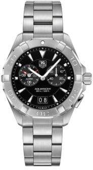 Tag Heuer Chronograph Aquaracer Stainless Steel Bracelet Watch