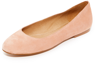 Madewell Finch Ballet Flats $98 thestylecure.com