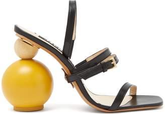 Bahia ornamental-heel leather sandals