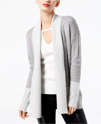 INC International Concepts I.n.c. Colorblocked Open-Front Cardigan
