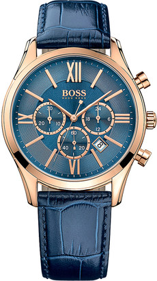 Hugo Boss 1513320 ambassador rose-gold stainless steel watch $290 thestylecure.com