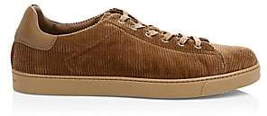 Gianvito Rossi Men's Corduroy Low-Top Sneakers