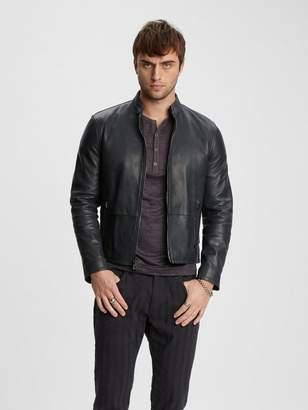 John Varvatos Leather Moto Jacket