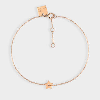 ginette_ny Milky Way Open Star Bracelet In 18 Carats Rose Gold