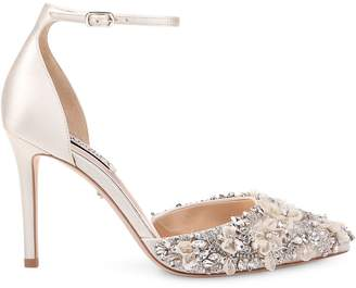 Badgley Mischka Fey Satin D'Orsay Pumps