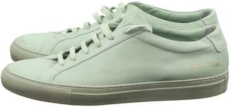 Common Projects Green Leather Lace ups