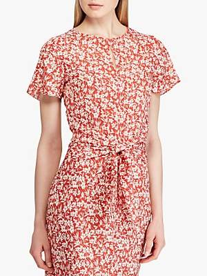 Ralph Lauren Ralph Vantrice Floral Dress, Red/Mascarpone Cream