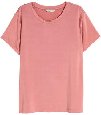 H&M Glossy Jersey Top - Pink