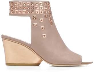 Donald J Pliner JANESP, Embellished Nappa Leather Wedge Sandal