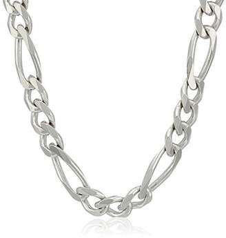 Men's Sterling Italian 9.70mm Solid Figaro Link-Chain Necklace