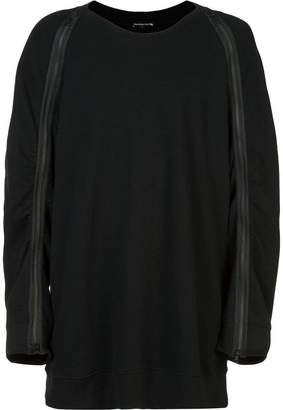 Ann Demeulemeester bird back embroidery sweatshirt