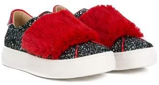 Ermanno Scervino glitter slip-on sneakers