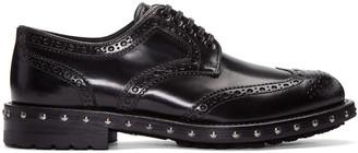 Dolce & Gabbana Black Studded Derbys $1,045 thestylecure.com