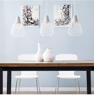 Southern Enterprises Pipit Cage Pendant Lamp 3 Piece Set