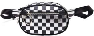 Like Dreams Checkered Faux Leather Belt Bag