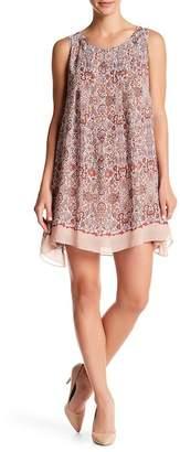 Max Studio Pleated Sleeveless Swing Dress