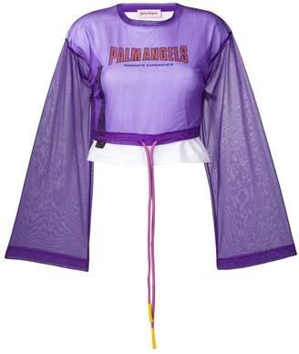 Palm Angels layered long-sleeve T-shirt