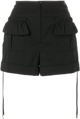 Carven frill trim cargo shorts
