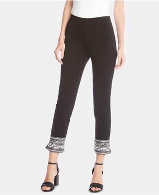 Karen Kane Embellished Cropped Skinny Pants