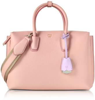MCM Milla Pink Blush Leather Medium Tote Bag