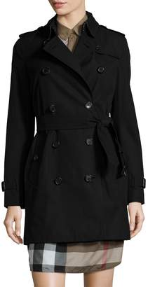 Burberry Women's The Kensington Mid-Length Heritage Trench Coat