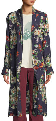 The Great The Robe Floral Open-Front Long Jacket