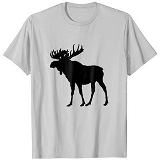Lovely Christmas and Holiday Moose Silhouette T Shirts