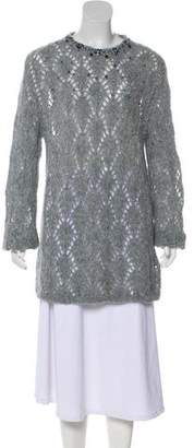 Ermanno Scervino Embellished Alpaca-Blend Sweater