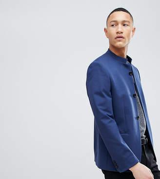 Noak Skinny Button Through Blazer In Jersey