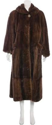 Nina Ricci Mink Fur Duster Coat