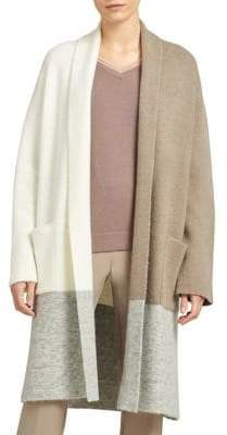 DKNY Open Front Colorblock Cardigan
